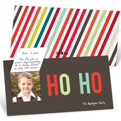 Pop-Up Ho-Ho-Ho Photo Christmas Cards