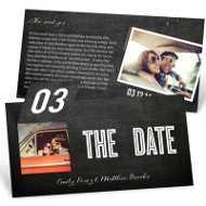 Pop Up to Perfection Save the Date Cards