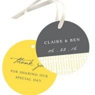 Modern Mix Wedding Favor Tags