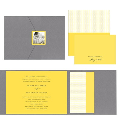 Modern Mix Wedding Invitations