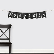 Chalkboard Congrats Banner Graduation Party Decorations