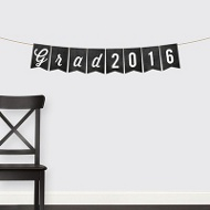 Chalkboard Grad Banner Graduation Party Decorations