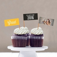 Favorite Photo Cupcake Flags Graduation Party Decorations