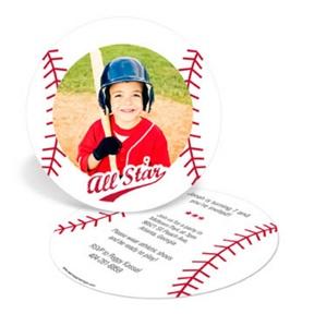 Baseball All Star -- Kids Birthday Invitations