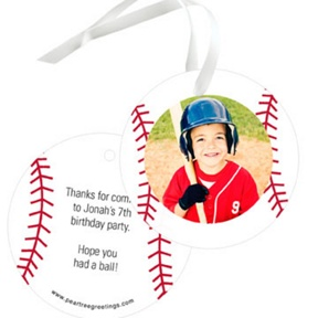 Baseball All Star Photo -- Gift Tags