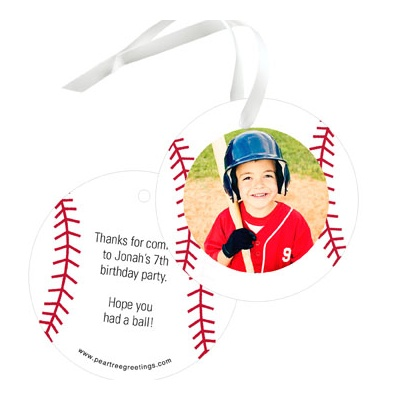 Baseball All Star Photo Gift Tags