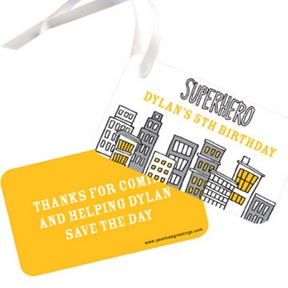 Searching for Superheroes -- Gift Tags