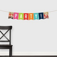 Multicolor Mosaic Banner -- Kids Party Decorations