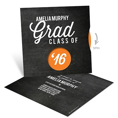 Spinning Memories Chalkboard Graduation Announcements