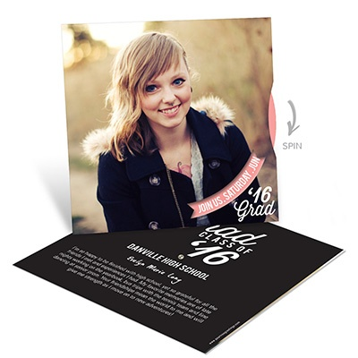 Spinning Party Details Graduation Announcements
