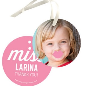 Little Lady -- Kids Birthday Favor Tags