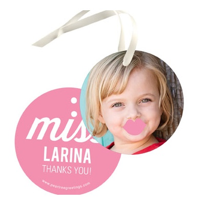 Little Lady Kids Birthday Favor Tags