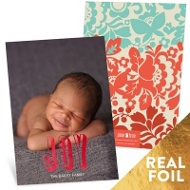 Foil Joy Christmas Cards