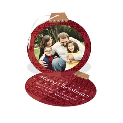 Ornate Ornament Photo Christmas Cards