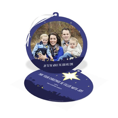 Starry Night Ornament Religious Christmas Cards