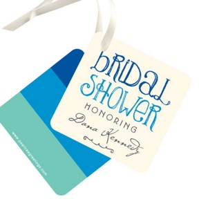 Showers Ahead Favor Tags -- Bridal Shower Decorations