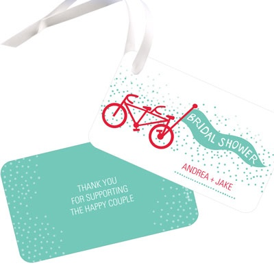 Tandem Ride Favor Tags Bridal Shower Decorations