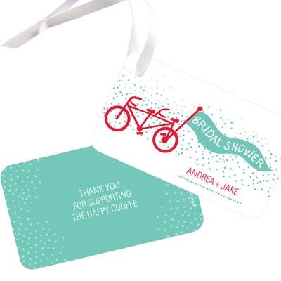 Tandem Ride Favor Tags Bridal Shower Decorations