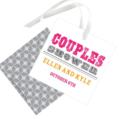 Vintage Couples Affair Favor Tags Bridal Shower Decorations