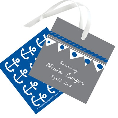 Setting Sail Favor Tags Bridal Shower Decorations