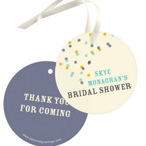 Blue And Gold Favor Tags -- Bridal Shower Decorations