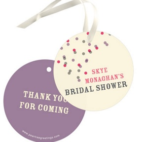 Pink And Purple Favor Tags -- Bridal Shower Decorations