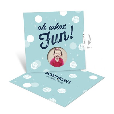 Oh What Fun Photo Spinner Photo Christmas Cards