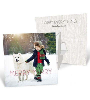 Photo Christmas Cards  -- Merry Merry Picture Frame