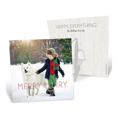 Merry Merry Picture Frame Photo Christmas Cards