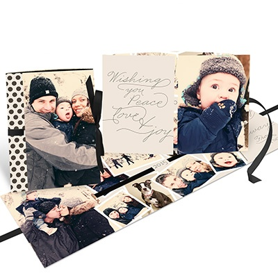 Thread The Ribbon Booklet Photo Christmas Cards