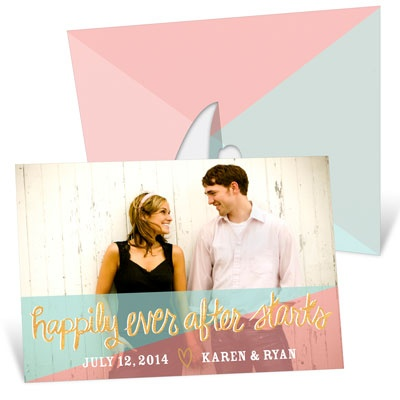Ever After Picture Frame Save the Date Cards