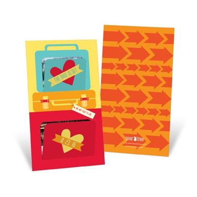 Pop Open Suitcases Save the Date Cards