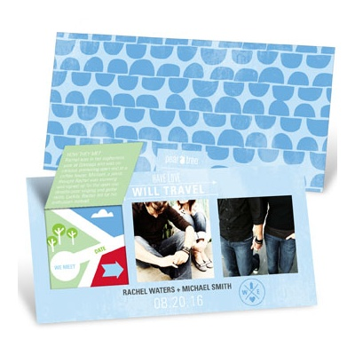 Pop Up Map Of Love Save the Date Cards