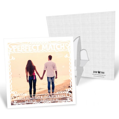 Perfect Match Picture Frame Save the Date Cards