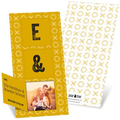 Pop Open Initials Save the Date Cards