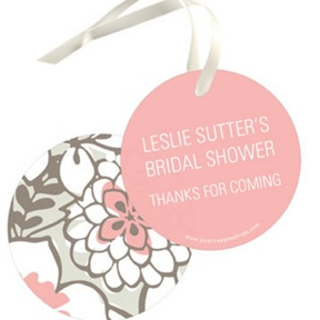 Blissful Blooms Favor Tags -- Bridal Shower Decorations