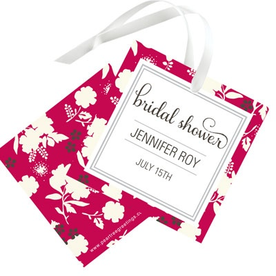 Fresh Blooms Favor Tags Bridal Shower Decorations