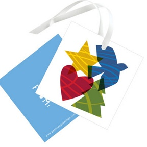 Peace, Hope, Love, Joy -- Christmas Gift Tags
