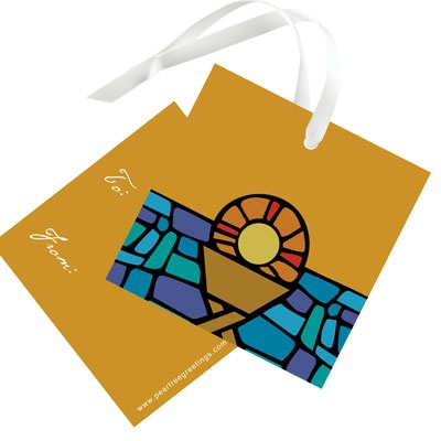 Stained Glass Christmas Gift Tags