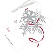 Silver Snowflake Christmas Gift Tags