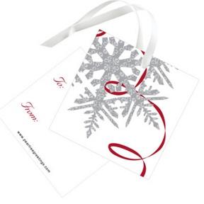 Silver Snowflake -- Christmas Gift Tags