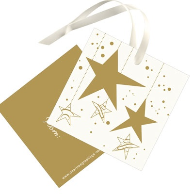 Gold Stars Christmas Gift Tags
