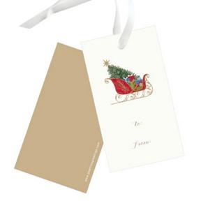 Classic Sleigh -- Christmas Gift Tags