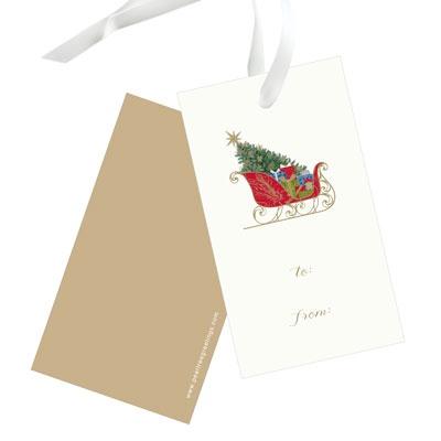 Classic Sleigh Christmas Gift Tags