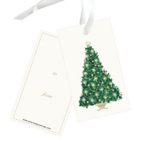 Candlelit Tree -- Christmas Gift Tags