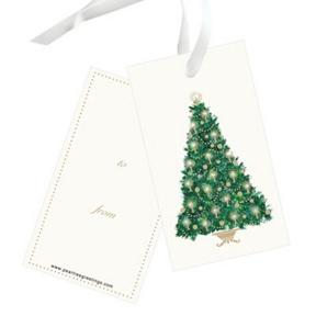 Candlelit Tree -- Christmas Gift Tags