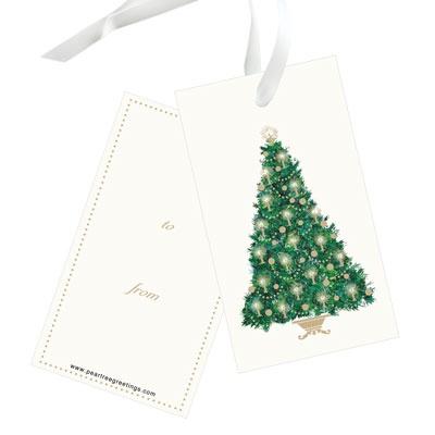 Candlelit Tree Christmas Gift Tags