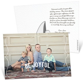 Horizontal Stand-Up Picture Frame -- Christmas Cards