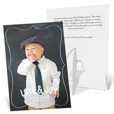 Vertical Stand-Up Picture Frame Photo Christmas Cards