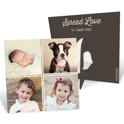 Four Square Picture Frame Photo Christmas Cards